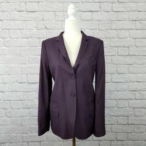Diane Von Furstenberg purple classic style blazer